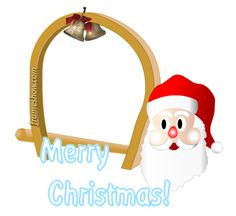 Santa Claus Christmas photo frame/e-card