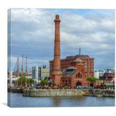 Canvas print of this is an image of the famous pumphouse in the albert dock in liverpool with on of the tallships to the left Cn Tower, Art For Sale, San Francisco Skyline, Liverpool, Big Ben, Art Pieces, Canvas Prints, Architecture, Travel