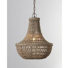 Jamie Young Macrame Jute Chandelier – traditional – chandeliers – Horchow - All For Decoration Lamp Shades, Light Shades, Artisanal, Art Decor, Home Decor, Lighting Design, Lights, Inspiration, Traditional Chandeliers