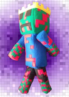 Minecraft inspired plushie Your skin created as a plush doll. Handmade, button jointed, custom created to order  https://www.facebook.com/Hellbuddies