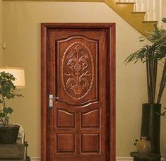 Simple Front Door Designs To Refine Your Home Main Door Design Photos, Door Design Images, Main Entrance Door Design, Wooden Front Door Design, Single Front Door Designs, Single Door Design, Double Door Design, Flush Door Design, House Gate Design