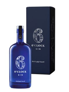 "Strikingly smooth 6 O'clock Gin has a clean flavour led by Juniper. Try it with your favourite premium tonic to create your own moment of ""ginspiration"". The smoothness flows from our custom-built copper still with its unique double sphere head, together with the careful selection of our botanicals and our distiller's craft. Only the pure heart of each run makes the cut. Supplied in a presentation box."