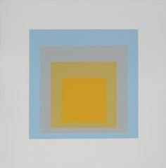 "Josef Albers    ""Wide Light""    silkscreen printed in colors, 1962"