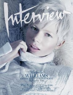 Michelle Williams short hair on the cover of Interview magazine
