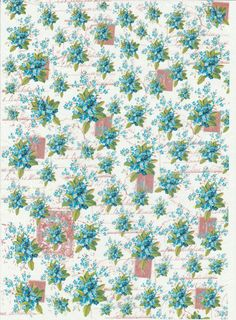 DECOPATCH Decoupage patrones de papel impreso azul