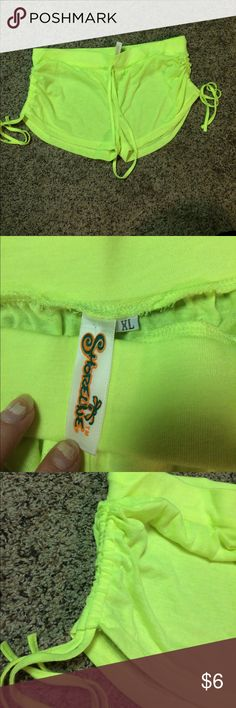 Shoreline shorts Neon yellow cinched sides size xl but could fit smaller Shorts