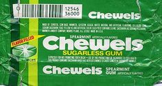 Chewels gum...granny always had it in the chicken