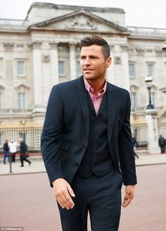 He's been practicing: Former TOWIE star Mark Wright poses up a storm in front of Big Ben as he models for the new Littlewoods campaign Mark Wright, Its A Mans World, Tailored Suits, Business Attire, Male Models, Mens Suits, Amazing Women, Sexy Men, Style