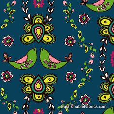 Miss Mod by Chelsea Andersen of Pink Fig for Henry Glass Fabrics 9264-77