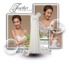 """""""Wedding dress"""" by chenzoe ❤ liked on Polyvore"""