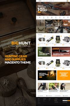 Magento Template , BigHunt - Hunting Gear and Supplies