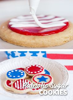 Celebrate the season and share your patriotic spirit with these festive and fun red, white, and blue sugar cookies. Get the kids involved and let them try their hands at original designs.