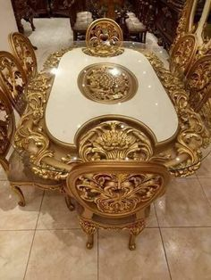 Items similar to Classic style wood dining room. It is wonderful and suitable for palaces and luxury houses. Hand carved on Etsy Painting Wooden Furniture, Royal Furniture, Home Decor Furniture, Dining Furniture, Luxury Furniture, Antique Furniture, Modern Furniture, Outdoor Furniture, Furniture Projects