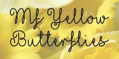 Mf Yellow Butterflies Font · 1001 Fonts