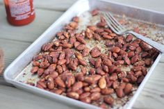 Sriracha-Soy & Sesame Almonds | Bake Your Day