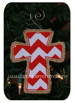 Cross Ornament Applique Design