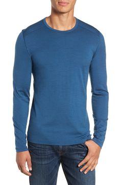 d89ad2fd Men's Icebreaker Oasis Long Sleeve Merino Wool Base Layer T-Shirt, Size  Medium - Blue