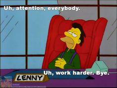 Lenny, the new boss
