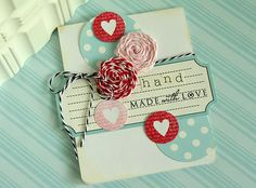 ve love this card. The colors, the twine, it's beautiful. card by Danielle flanders