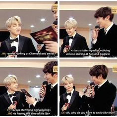 PCY is flustered by chimin's face as well. He is the same as ARMYS y'all