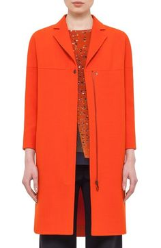 Akris punto Notched Collar Coat available at #Nordstrom
