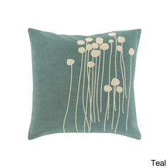 Decorative Carlie Floral 22-inch Throw Pillow | Overstock.com Shopping - The Best Deals on Throw Pillows