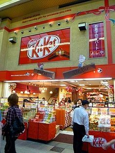 Kit Kat shop Osaka, Japan OMGOMG I NEED TO GO THERE!!! I'd go crazy and broke when I visit it....