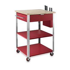 Meal time prep just got easier. From drawers and shelves, to a cutlery bay and towel rack, the Culinary Prep Rolling Kitchen Cart from Crosley is jam packed with convenient features that cater to any chef, novice and expert alike.