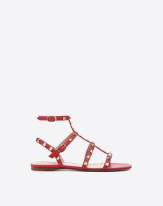 ff37112d512a Rockstud caged Flat Sandal for Woman