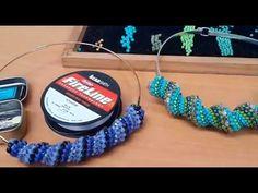Tutorial Bisuteria Collar Puntada en Espiral - YouTube                                                                                                                                                                                 Más