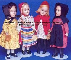 Hedwig dolls from the stories of Marguerite de Angeli. Never knew they existed until now. Wow!