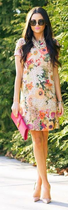 Fashion trends Spring floral dress Just a Pretty Style