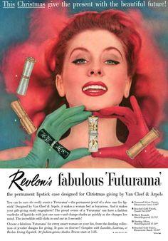 1956 Revlon Futurama lipstick cases