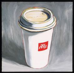 Coffee to go. An illustration by Susan Jane Belton  #art #cup #illy #illylovers:
