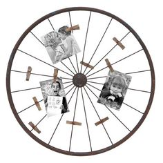 I pinned this Wheel Photo Holder Wall D�cor from the Remodelaholic event at Joss and Main! $42