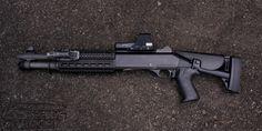 "the-great-trevor: "" weaponslover: "" Benelli - Shotgun heaven "" i'll take 10 "" Airsoft Guns, Weapons Guns, Guns And Ammo, Remington 870 Tactical, Tactical Shotgun, Tactical Gear, Tactical Life, Benelli M4, Assault Weapon"