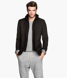 Hooded Jacket in Black | H&M US