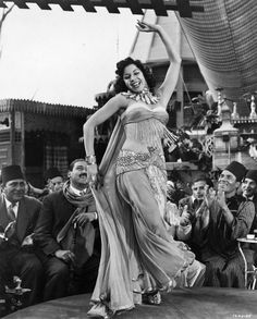 A print photograph of Samia Gamal ,Egyptian belly dancer from the 1954 film ''Valley of the Kings''.