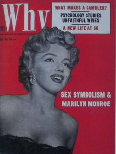 Why - June 1953, magazine from USA. Front cover photo of Marilyn Monroe by Bob Landry, 1952.