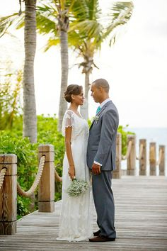 Coco Caribe Romantic ~ Elegant Wedding Day Inspiration for Caribbean Destination Weddings, feature on Love My Dress, styling by Stacie Steensland, image by Chanelle Segerius-Bruce of Brilliant Studios, Point Grace Resort Turks and Caicos Islands, models Thorn Capron and Vielka Salvadore