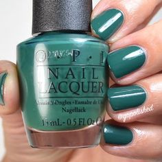 Stay Off The Lawn is a green toned teal polish. New from the OPI Washington DC Collection 2016 (Fall/ Winter). Teal Nail Polish, Teal Nails, Nail Lacquer, Opi Nails, You Nailed It, Washington Dc, Nail Colors, Lawn, Fall Winter