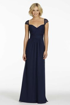 Navy bridesmaids dress that are classic and simple ~ jim hjelm occasions bridesmaid dress Navy Bridesmaid Dresses, Blue Bridesmaids, Wedding Bridesmaids, Wedding Attire, Prom Dresses, Wedding Dresses, Dresses 2014, Bridesmaid Ideas, Bohemian Bridesmaid
