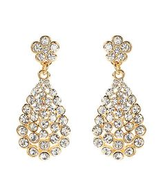 Loving this Austrian Crystal & Goldtone Amelie Drop Earrings on #zulily! #zulilyfinds