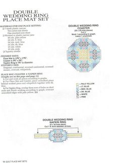PLACEMATS - QUILTS  A - 8/14