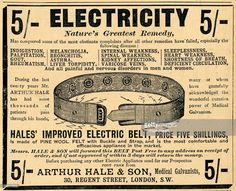 Arthur Hale Electric Belt, 1910.