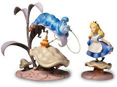 WDCC Disney Classics - Alice In Wonderland Caterpillar & Alice Who R U And Properly Polite