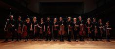 Australian Chamber Orchestra - sharing a laugh. Photo by Jon Frank.