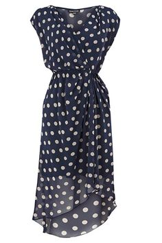 Wrap Dresses #refinery29  http://www.refinery29.com/38992#slide8  Warehouse Dot Spot Wrap Dress, $79.90, available at John Lewis.