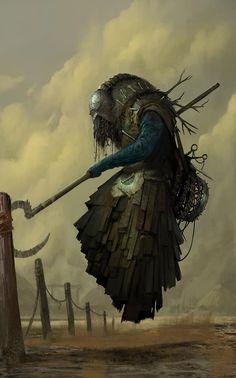 Men in fantasy art — reality-breaker: Raveneau Pierre Dark Fantasy Art, Fantasy Artwork, Fantasy World, Fantasy Monster, Monster Art, Creature Concept Art, Creature Design, Arte Horror, Horror Art