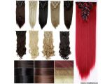BUY IT NOW! Straight Wavy Curly Hair Extension Blonde Brown Black